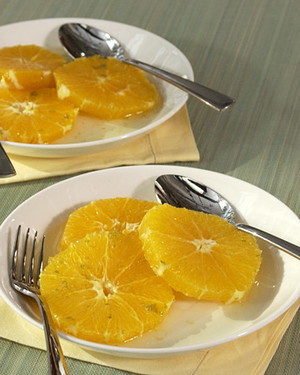 Oranges in Lime Syrup