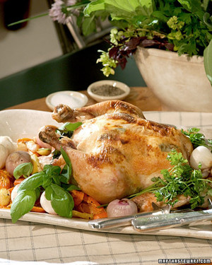 Whole Roasted Chicken with Goat Cheese and Sage