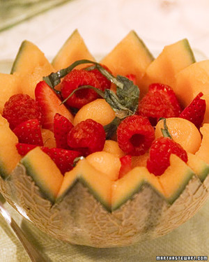 Georges's Melon and Wild Strawberries with Sweet Wine