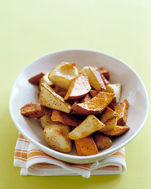 Roasted Pears and Sweet Potatoes