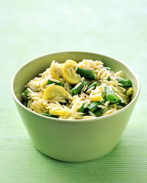 Orzo and Snap Pea Salad