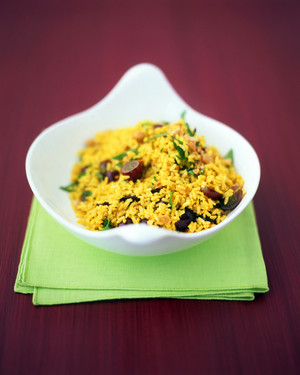 Curried Rice Salad With Grapes