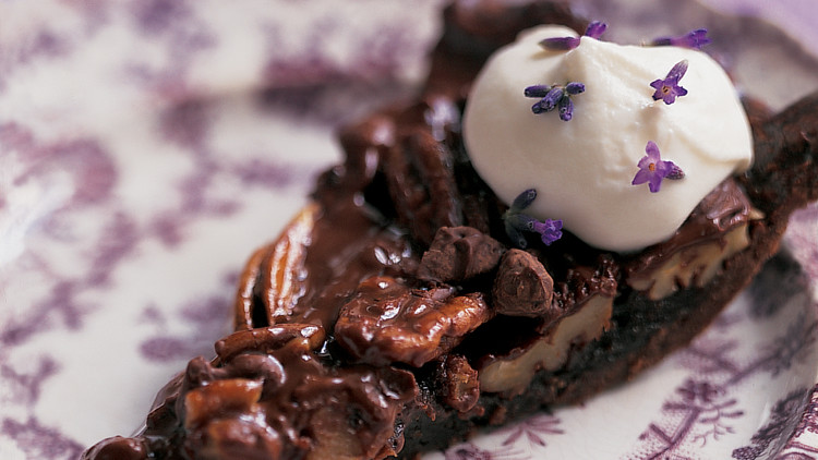 Chocolate Pecan Pie with Chocolate Crust