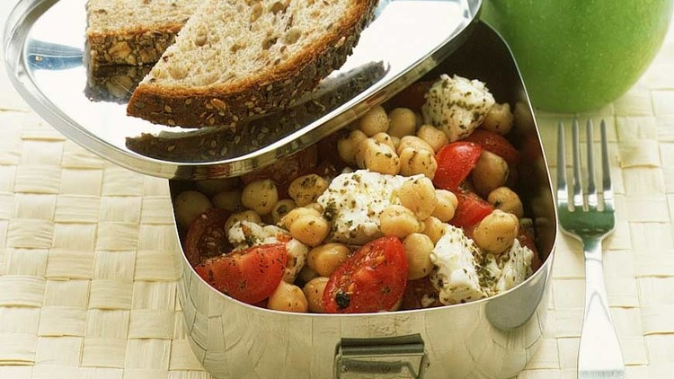 chickpea cherry tomato feta salad