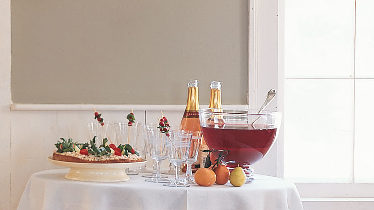 Cranberry, Tangerine, and Pomegranate Punch