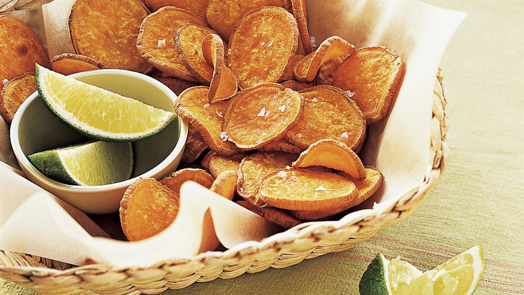 Baked Sweet Potato Chips Recipe Martha Stewart