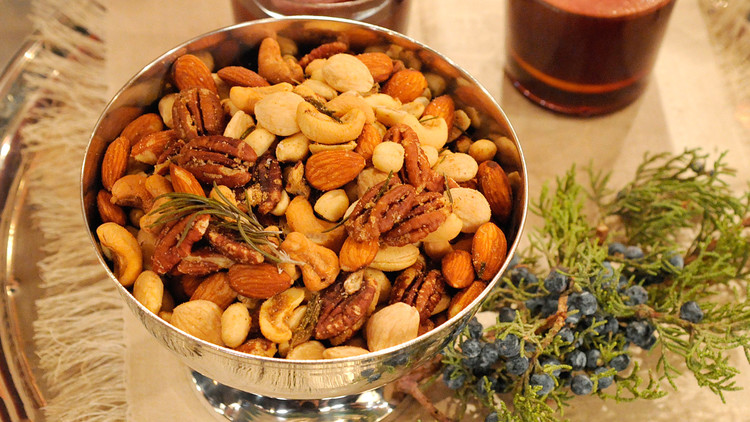 Brown-Butter Nut Mix with Rosemary and Thyme