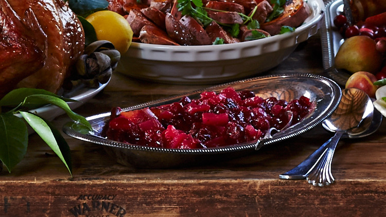 Spiced-Pear-and-Cranberry Chutney