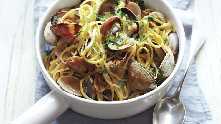 Linguine with Clams and Lime