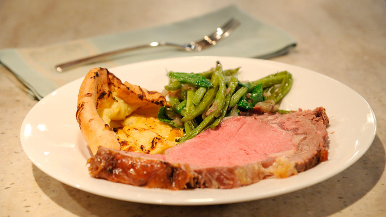 Rib Roast with Yorkshire Pudding