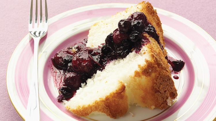 Ginger Berry Compote with Angel Food Cake