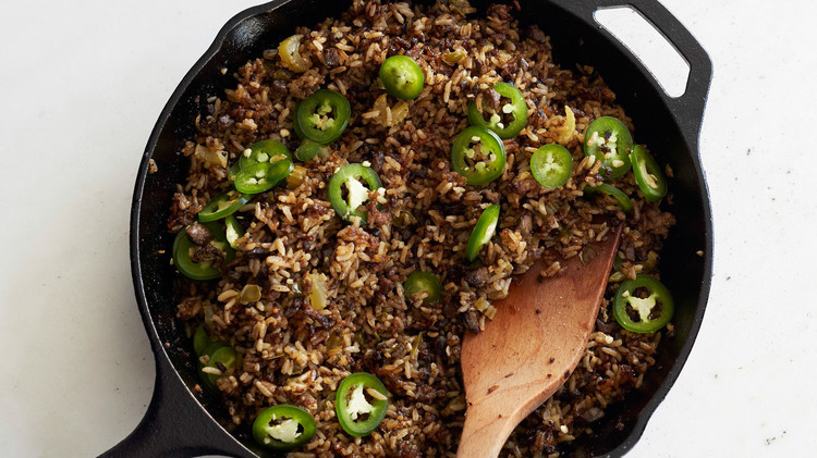 dirty rice skillet