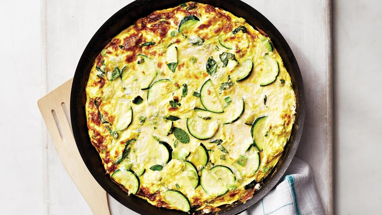 Perfect Frittata with Zucchini and Provolone