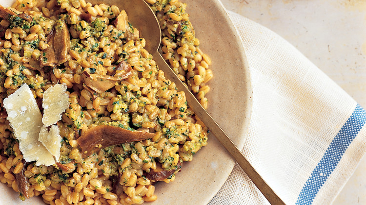 Farro and Porcini Risotto