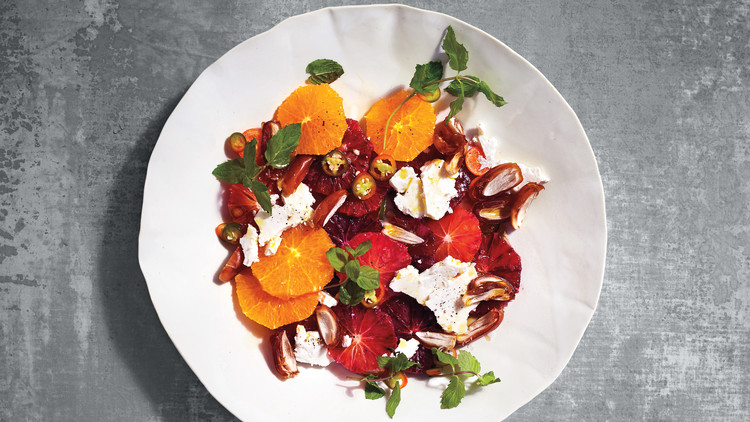 Orange Salad with Dates, Mint, and Chiles