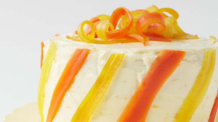 ginger-carrot layer cake with cream-cheese frosting