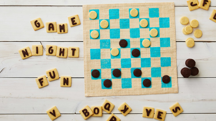 Word Game and Checkers Cookies