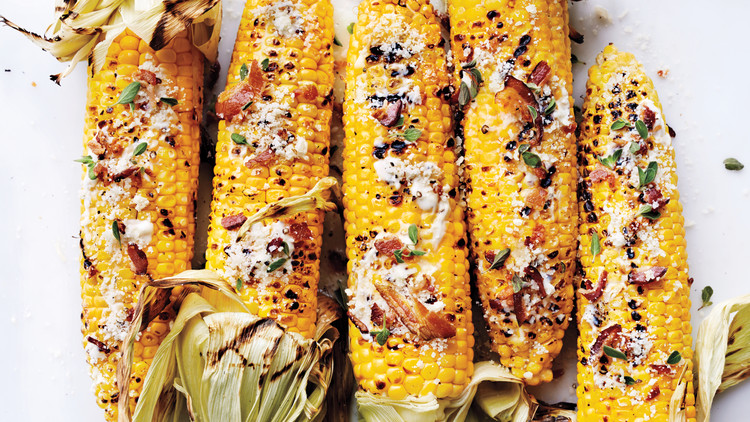Grilled Corn with Bacon