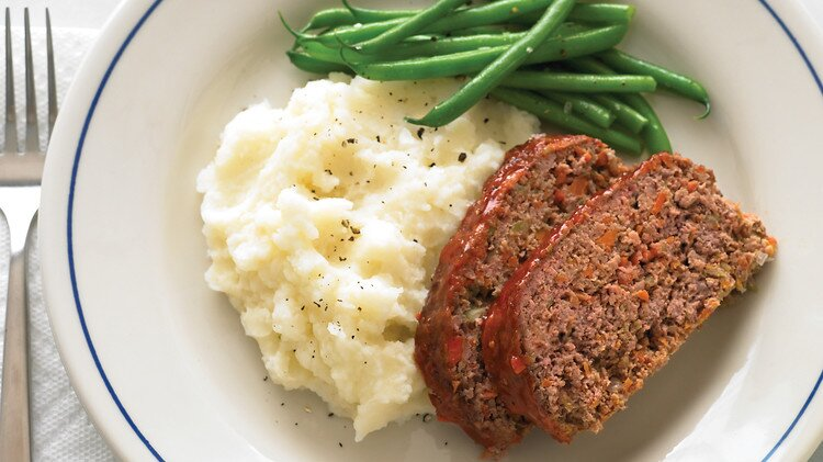 Meatloaf And Buttermilk Mashed Potatoes Recipe Martha Stewart