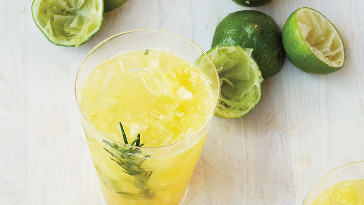 Crushed Pineapple-Rosemary Limeade