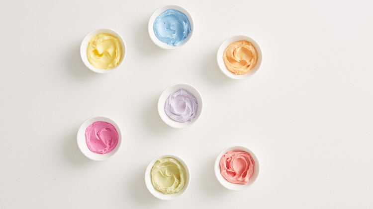 All-Natural Tinted Buttercream
