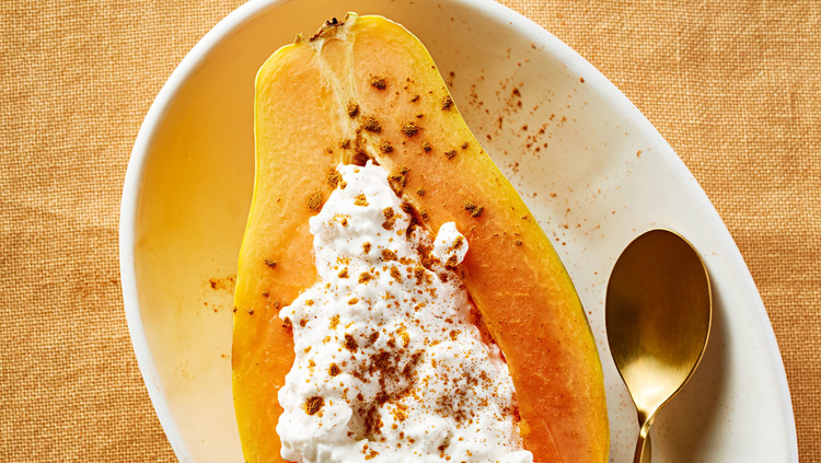Cottage Cheese-Stuffed Papaya