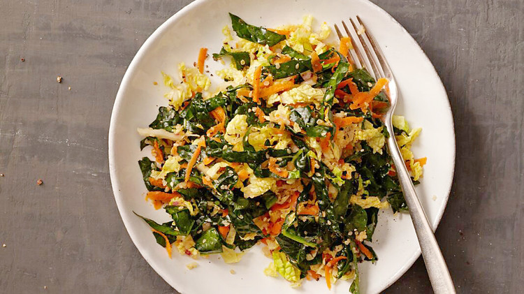 Quinoa Salad with Kale and Napa Cabbage