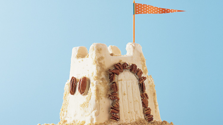 Yellow Butter Cake for Vanilla-Pecan Sand Castle