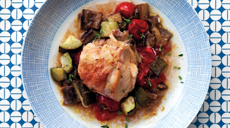 Roasted Chicken Breasts with Ratatouille