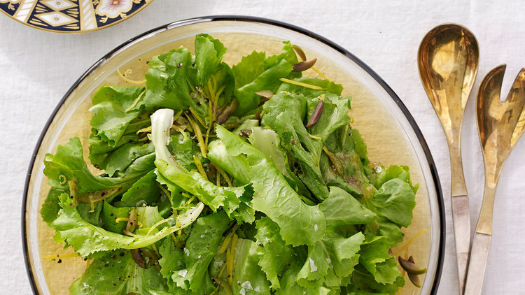 Escarole Salad with Lemon-and-Anchovy Dressing
