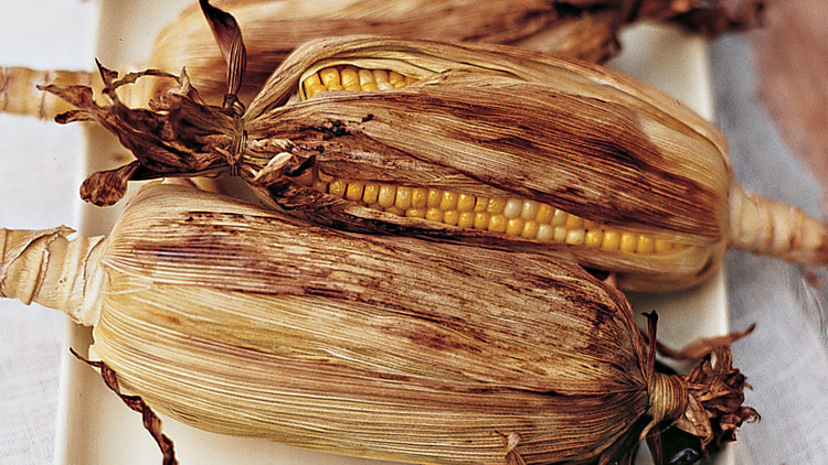 Grilled Corn with Green Chiles