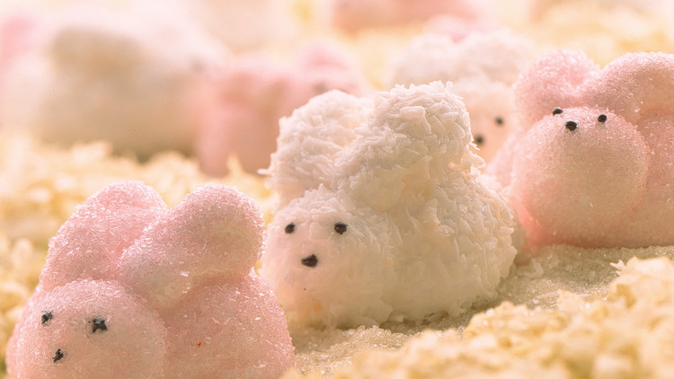 Coconut-Coated Marshmallow Shapes