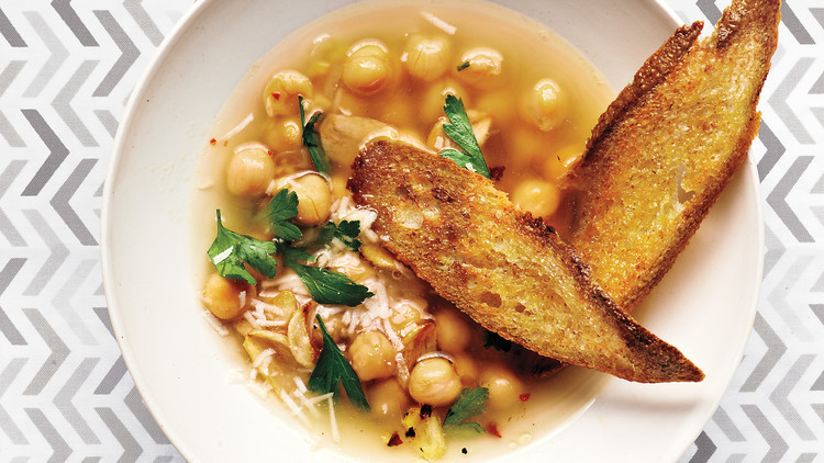 Chickpea Soup with Parsley and Parmesan