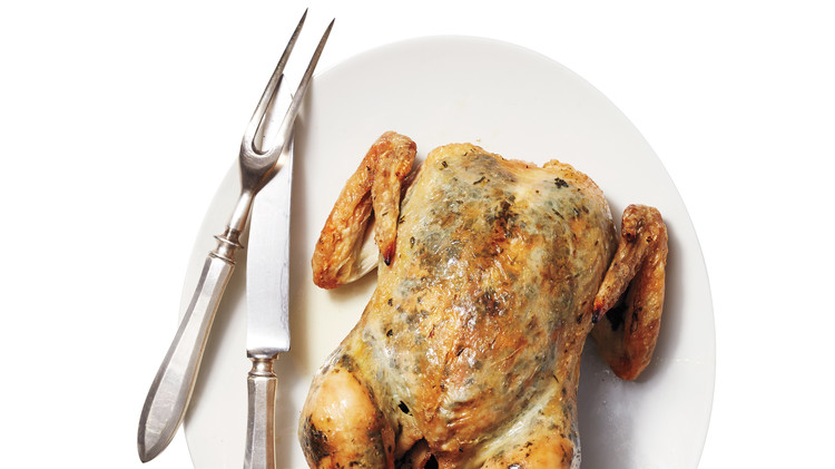 Roasted Chicken with Anchovy, Parsley & Lemon