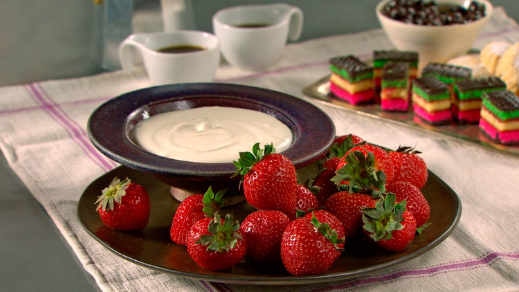 Strawberries and Sambuca Cream