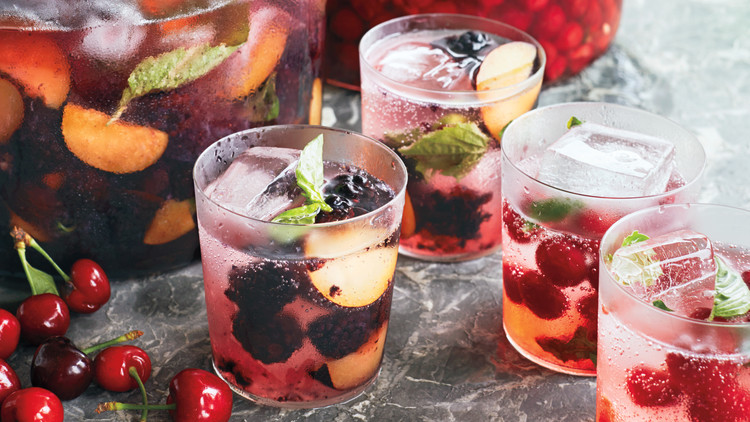 Blackberry-Plum Mojitos