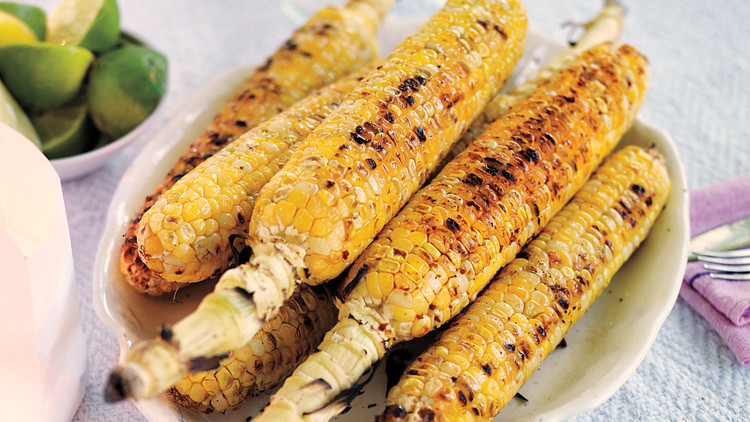 Grilled Corn with Lime and Chile