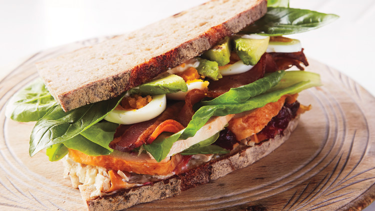 Turkey Cobb-Salad Sandwich