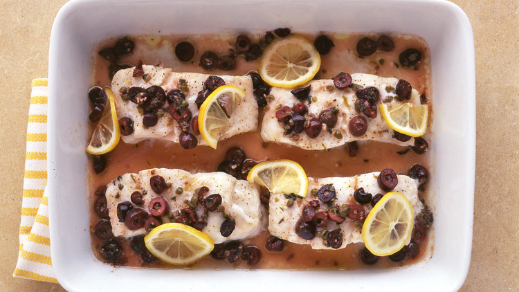 baked cod with olives