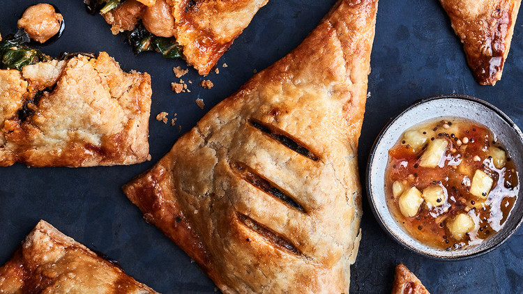 Red Curry Chickpea Handpies