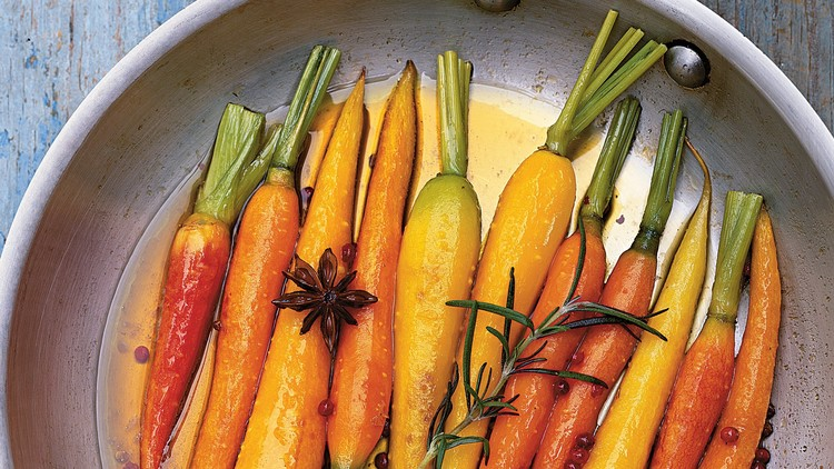 Glazed Carrots with Whole Spices and Rosemary