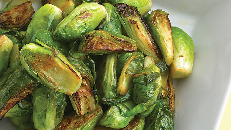 Lemony Shredded Brussels Sprouts