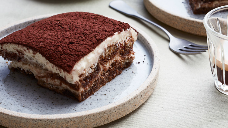 classic tiramisu served with espresso
