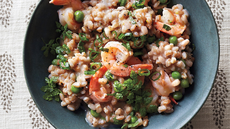 Farro Risotto with Shrimp