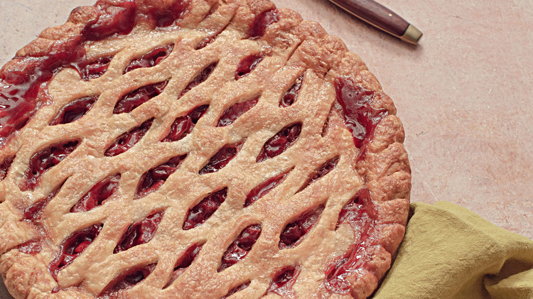 pear sour cherry pie