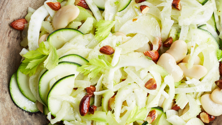 Shaved Fennel, Zucchini, and Celery Salad