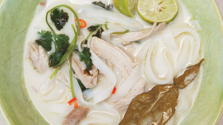 Coconut-Lime Soup with Chicken and Rice Noodles