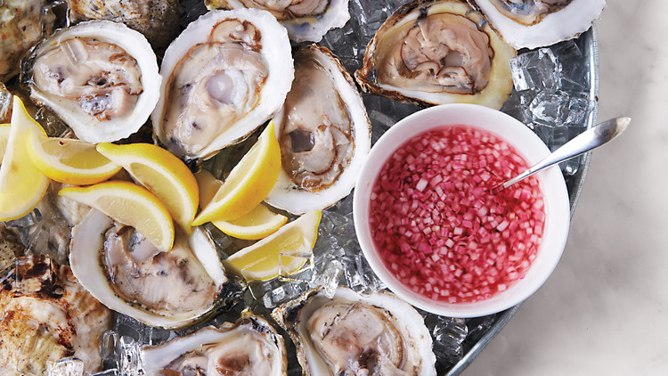 Oysters on the Half Shell with Mignonette