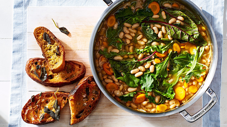 white beans greens stew