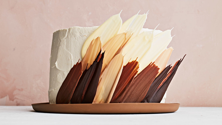 Coffee Feather Cake